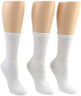 Women's Sport Crew Socks White - Size 9-11, Athletic Running Socks, 3-pack