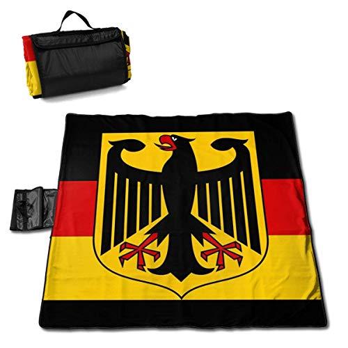 GuyIvan Deutschland Flagge Extra große Stranddecke Picknickmatte 145X150cm