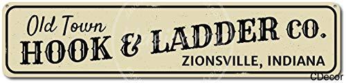 niet Oude Stad Haak & Ladder Bedrijf Tin Wandbord Metalen Retro Poster Iron Waarschuwingsborden Vintage Opknoping Art Plaque Yard Garden Cafe Bar Pub Openbaar Gift 16X4 Inch