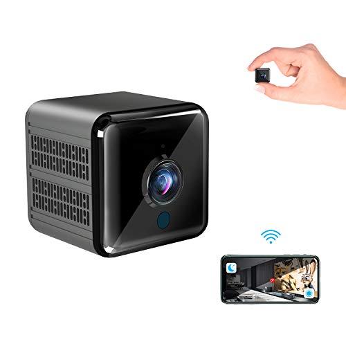 Mini Kamera, Super Infrarot Nachtsicht Mini überwachungskamera Gumgood Full HD 1080P Minikamera Lange Batterielaufzeit WLAN Kamera mit Bewegungserkennung und Magnet, Compact Akku Kameras für Innen