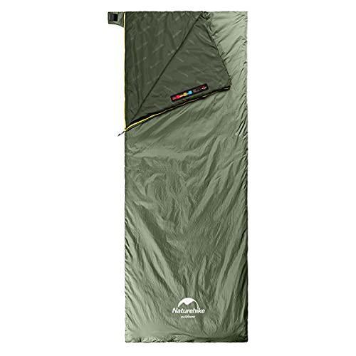 Naturehike Saco de Dormir Ligero portátil Comfort Impermeable con compresión del Saco de Dormir Ideal para los Viajes de Camping y Actividades al Aire Libre Durante 3 Estaciones (Verde Pino L)
