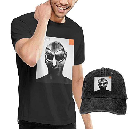 Baostic Camisetas y Tops Hombre Polos y Camisas, Men's Black Short Sleeve Shirts, Madvillian-Madvillainy Casual T Shirt + Baseball Cap