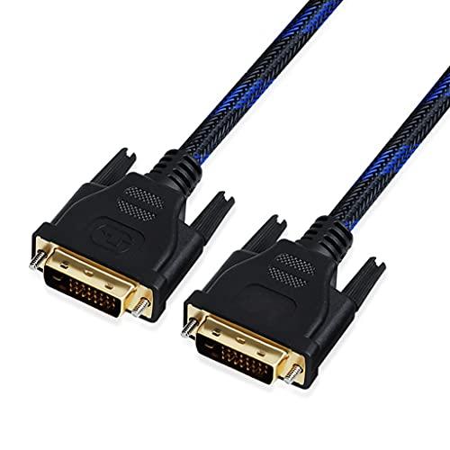 KYAM Cable de Video Digital Cable DVI Dual Enlace MARSO A Mayor DE DVI(1920x1080) Cable de Monitor Digital Cable Nylon Trenzado con núcleo de ferrita Cable Monitor PC (Length : 8m)