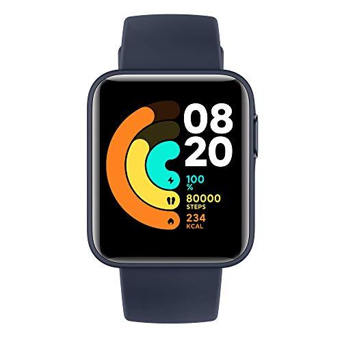 Xiaomi Mi Watch LITE Orologio Smart, Display LCD TFT 1.4'', Fino a 9 Giorni di Autonomia con una Ricarica, GPS integrato, Monitora 11 Tipologie di Sport, BLU NAVY, Versione Italiana