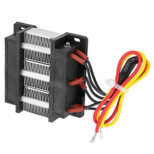 Calentador de aire con elemento calefactor de cerámica aislado PTC y tubo de aluminio para instrumentos pequeños, espacio (110V / 48V 200W)(110V200W)