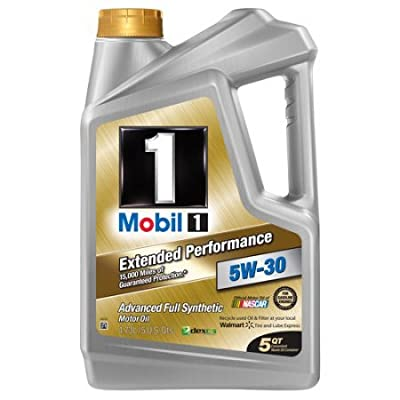Mobil 1 5W-30 Extended Performance Full Synthetic Motor Oil, 5 qt. By > Mobil 1