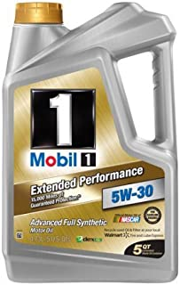 Mobil 1 5W-30 Extended Performance Full Synthetic Motor Oil, 5 qt.