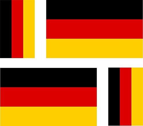 Akacha sticker voor auto, motorfiets, koffer, PC, motief: Duitse vlag, 4 stuks