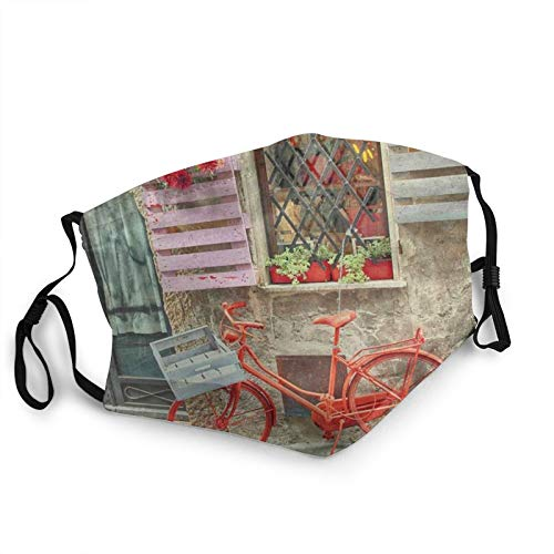Calcetines de almohada Europeo Rojo Bicicletas Reutilizables Mascarilla Pasamontañas Lavable al aire libre de la nariz de la cubierta de la boca de la moda