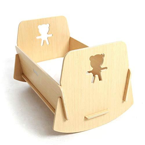ANYWN Cuna para bebé, Modelo Oso Dormilón Mundi Bebé + Colchón Viscoelástica + Protector de colchón Impermeable