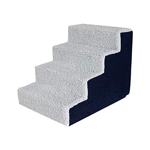 WSJF Hundetreppe,Pet Treppen Washable Suede Highresilience Cotton Dog Stairs Hunderampe for Hunde Und Katzen, for Kleine, Mittlere Und GroßE Haustiere (FüR 3 Oder 4 Stufen) (Farbe : C)