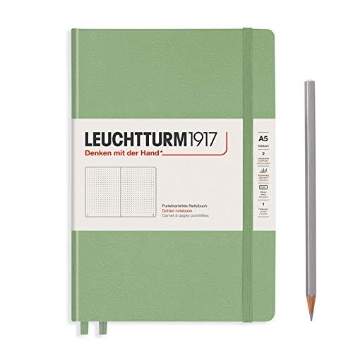 LEUCHTTURM1917 bloc-notes À pois a5 Sauge