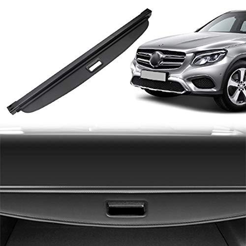 OREALTOOL Laderaumabdeckung Kofferraum Schutz Abdeckung Cargo Cover für Mercedes-Benz Klasse GLC 2016 2017 2018 Schwarz Ausziehbar Kofferraumabdeckung Rollo