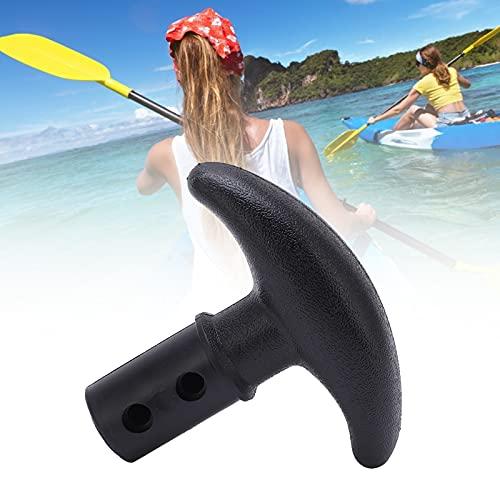 Folany Maniglia per pagaia a T per Canoa Kayak, Facile da installare Maniglia per pagaia per Barca Gonfiabile Leggera e Resistente per tavola da Surf per SUP(Nero)