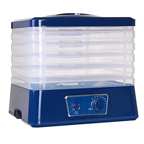 Deshidratador de Alimentos, máquina de secador eléctrico con 5 bandejas sin BPA, Control de Temperatura Ajustable 350W para Carne de Carne de Verduras de Fruta de Carne brusca
