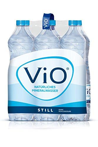 ViO Still, Natürliches Mineralwasser ohne Kohlensäure, Geeignet für eine natriumarme Ernährung, Flasche, EINWEG PET (6 x 1,5 l)