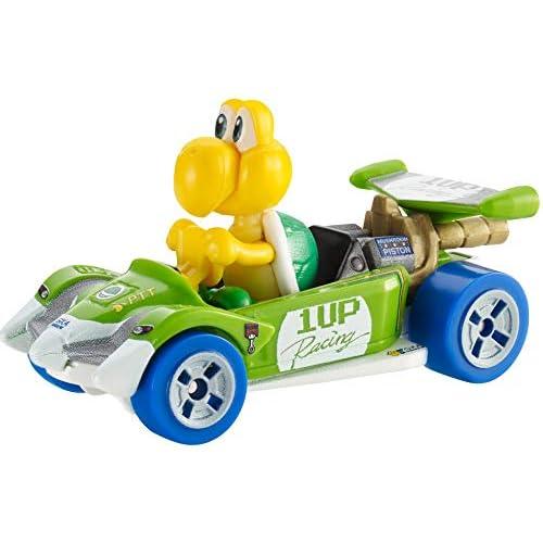 Hot-Wheels - Mario Kart Personaggio Koopa Troopa Circuit Special - Veicolo in Metallo in Scala 1:64, Macchinina Giocattolo per Bambini 3 + Anni, GJH55