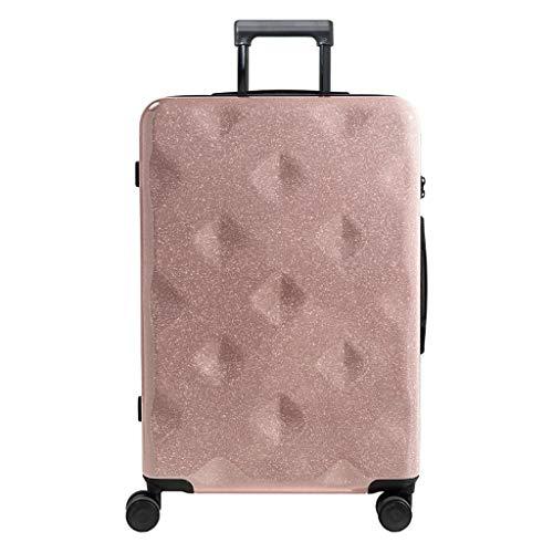 NJ Koffer voor kruiwagen, creatief ontwerp voor scholieren, universele koffer voor mannen en vrouwen, yellow (Roze) - NJ-123