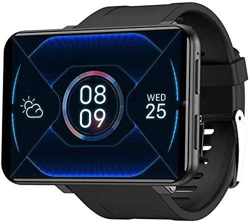 TIANYOU Smart Phone Watch con 2.86 Pantalla Táctil Android 7.1 Wifi Bluetooth Smart Watch Ip67 Smart Watch Smart Watch-1Gb + 16Gb_Sier Exquisito/Negro / 1GB+16GB