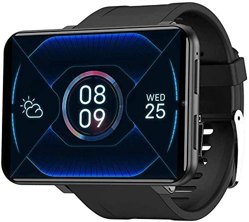 Gymqian Smart Phone Watch con 2.86 Pantalla Táctil Android 7.1 Wifi Bluetooth Smart Watch Ip67 Smart Watch Smart Watch-1Gb + 16Gb_Sier El mejor regalo/Negro / 1GB+16GB