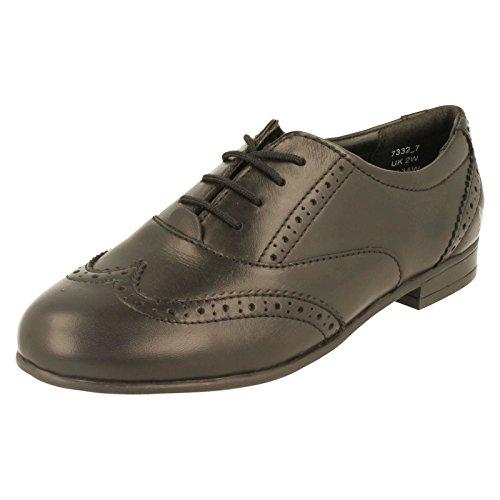 Start Rite Matilda Girls Brogue School Shoes 6 Black Leather W