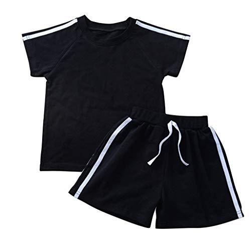 cover Sportbekleidung Kinder Baby Mädchen Bekleidungsset T-Shirt + Shorts Kurzarmshirt Kurze Hosen