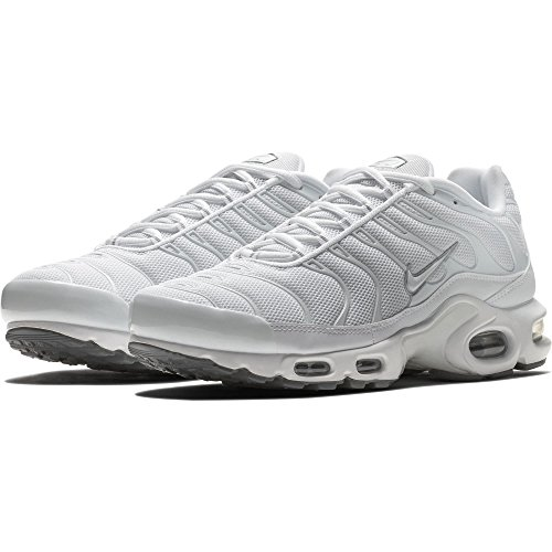 Nike Herren Air max Plus Laufschuhe, Weiß (White/White-Black-cool Grey), 40 EU