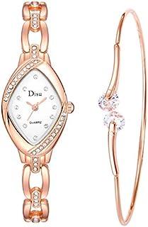 2019 Ladies Watch Light Luxury Girl Temperament Watch Bracelet Set Chain Watch Birthday Gift(Multicolor)