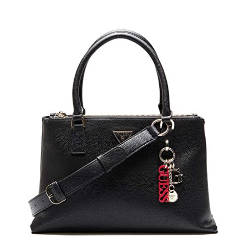 Guess Borsa donna mano/tracolla Becca status satchel 3 comp. nero B21GU35