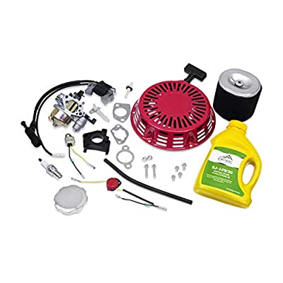 Everest Tune Up Kit for Honda GX340 GX390 11hp 13hp Recoil Pull Starter Carburetor Ignition Coil Spark Plug Air Filter