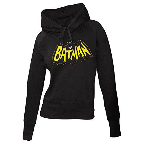 Batman–Sudadera con capucha mujer Classic TV Logo Hoodie negro