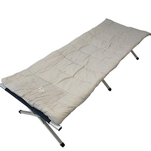 Explorer campingbed, ledikant, aluminium bed, logeerbed, tent, buiten, zachte kussens van katoen, verschillende maten