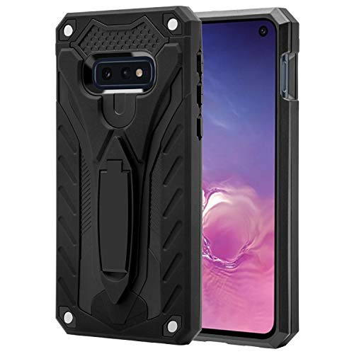 AFARER Samsung Galaxy S10E case,Military Grade 12ft Drop Tested Protective Case with Kickstand,Military Armor Dual Layer Protective Cover Compatible with Samsung Galaxy S10E 5.8 inch Black