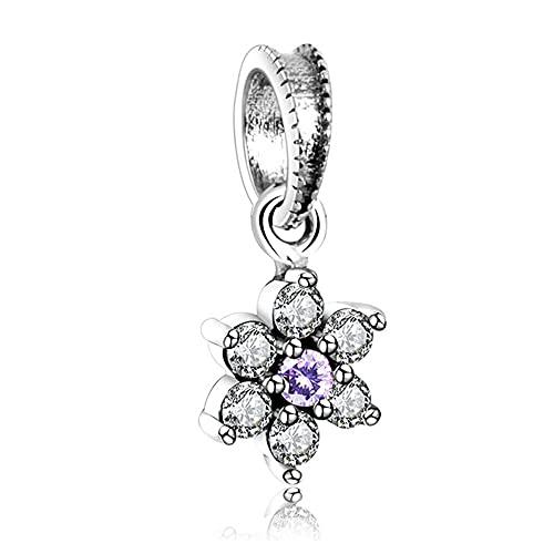 Pandora plata esterlina no me olvides colgante encanto Original Europa pulsera mujeres precio de fábrica Diy joyería