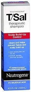 Neutrogena T/Sal Therapeutic Shampoo, Scalp Build-Up Control 4.5 oz (Pack of 2)