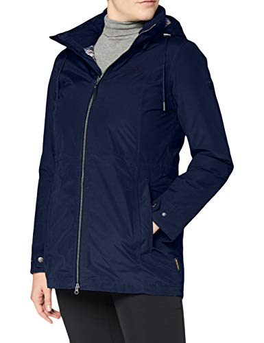 Jack Wolfskin Damen WILDWOOD JACKET W wasserdichte Winterjacke, Midnight Blue, L