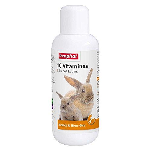 Beaphar - 10 vitamine per Coniglio - Contiene 10 vitamine Essenziali - Apporta vitalità e Benessere - Risponde alle Esigenze di vitamine dei Conigli - per la Salute del Tuo Animale - 100 ml
