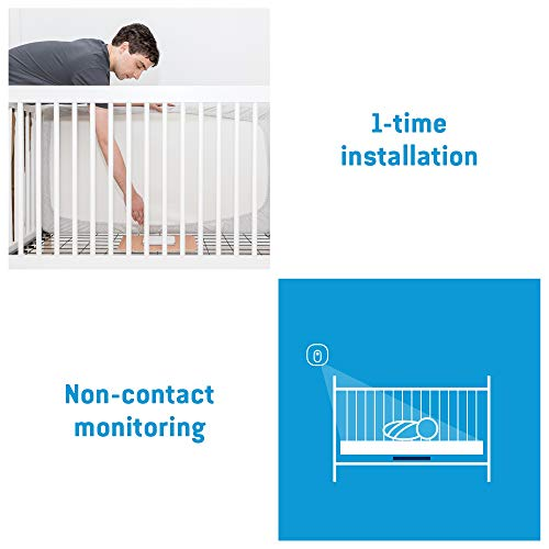 Angelcare 3-in-1 AC337 Baby Monitor, with Breathing Movements Tracking, 4.3'' Video, Sound & Temperature Display on Camera