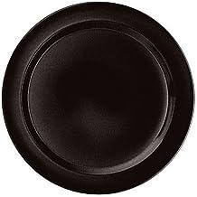 Emile Henry 8-inch Salad/Dessert Plates, Set of 4, Black