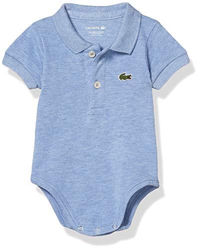 Lacoste Baby Short Sleeve Pique Layette Gift Set, Cloud Blue, 12M