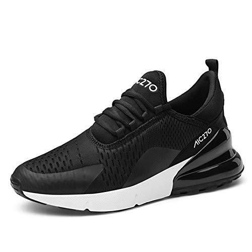 Azooken Herren Damen Sneaker Laufschuhe Sportschuhe Air leicht Walkingschuhe Running Turnschuhe Shoes(270-1BKWH39)