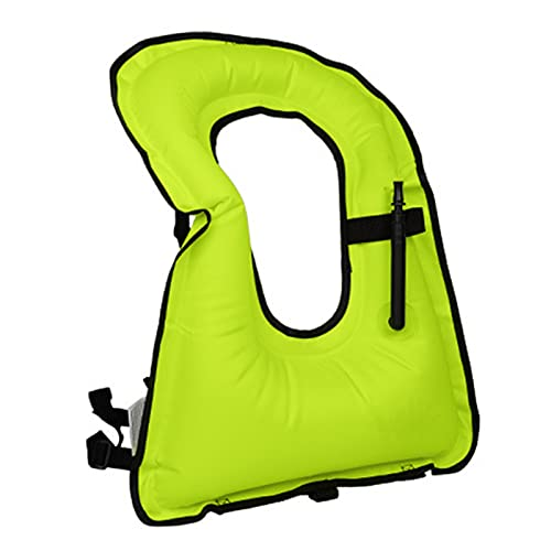 ZAYZ Chaleco Salvavidas Inflable para Snorkel Chaleco para Adultos Chaquetas Flotantes para Deportes Acuáticos para Bucear Nadar (Color : Green, Size : 61x45cm)