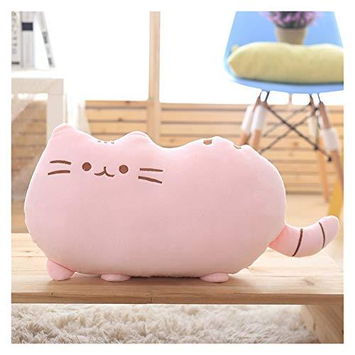 25-50 cm poduszka z zamkiem błyskawicznym i pp bawełniane ciastka pluszowy kot zwierzę lalki dziecięce dziecko prezent zabawka tanie (Color : Pink, Height : 50cm)