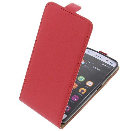 foto-kontor Tasche für ZTE Blade V7 Lite Smartphone Flipstyle Schutz Hülle rot