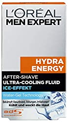 L'Oréal Men Expert Hydra Energy After-Shave Ultra-Cooling Fluid, cools freshly shaved men's skin Prevents redness, skin irritation and pimples (100 ml)