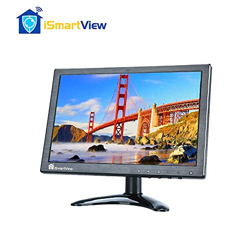 iSmartView 10.1 inch IPS HDMI Monitor 1280x800 High Resolution Portable Mini LED Colorful Video Display Support Input HDMI/VGA/BNC/AV/USB/PC with Remote Controller Touch Key Built-in Dual Speakers