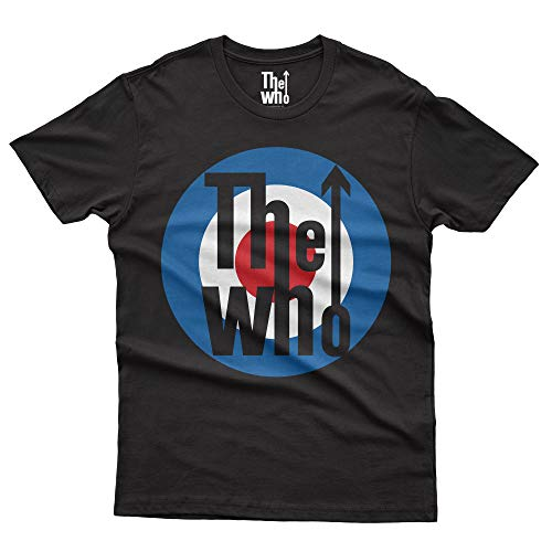 The Who Classic Target T-Shirt Official Licensed Hombre, Small, Negro