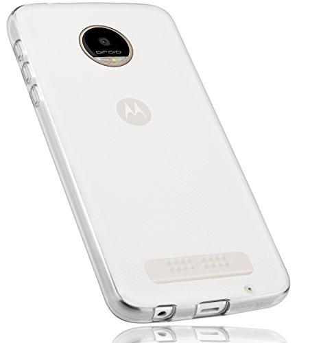 mumbi Hülle kompatibel mit Lenovo Moto Z Play Handy Case Handyhülle, transparent weiss