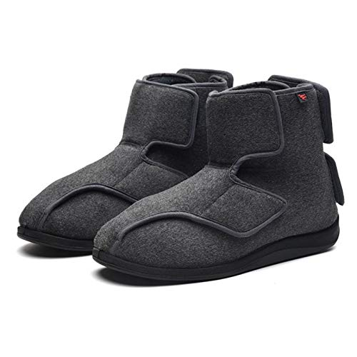 XRDSHY Zapatos para Diabéticos Unisex, Zapatillas De Casa Ligeras Y Anchas, Cómodas para Caminar, Zapatillas para Fascitis Plantar, para Pies Hinchados, Edema, Ancianos,Dark gray-EU40/250mm