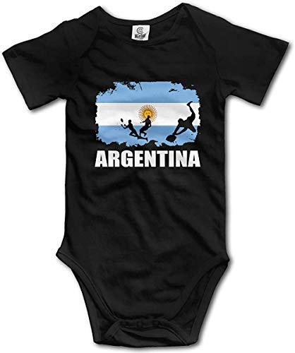 WlQshop Mono para Bebé,Mameluco Bebé Unisex Argentina Flag Football Rugby Newborn Baby Bodies Short Sleeve Infant Cotton Bodiess